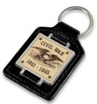 Eagle Faux Leather Keyring
